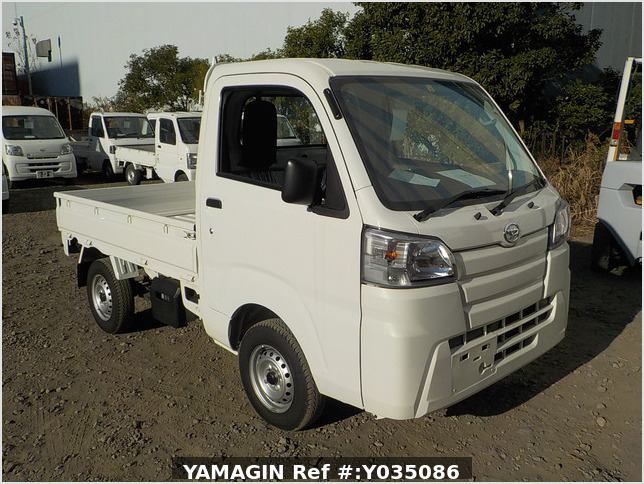 It is a picture of the white daihatsu hijet truck in 2020,Sub Photo 0 Stock No.Y035086