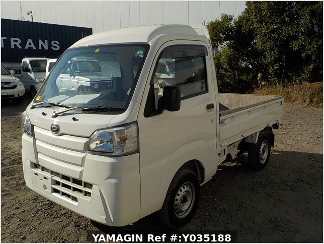 It is a picture of the white daihatsu hijet truck in 2020,Sub Photo 1 Stock No.Y035188