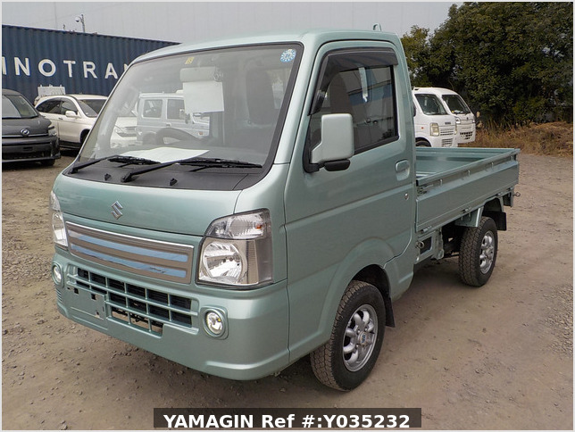 It is a picture of the green  suzuki carry truck in 2016,Sub Photo 1 Stock No.Y035232
