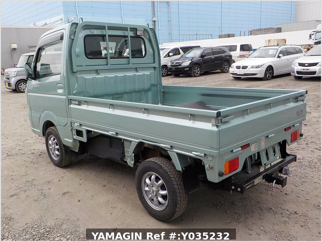 It is a picture of the green  suzuki carry truck in 2016,Sub Photo 3 Stock No.Y035232