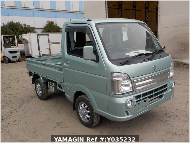 It is a picture of the green  suzuki carry truck in 2016,Sub Photo 0 Stock No.Y035232