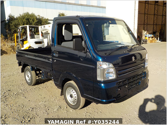 It is a picture of the blue suzuki carry truck in 2020,Sub Photo 0 Stock No.Y035244
