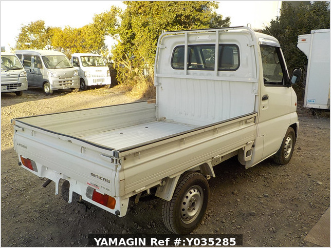 It is a picture of the white mitsubishi minicab truck in 2000,Sub Photo 2 Stock No.Y035285