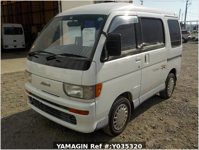 It is a picture of the white daihatsu atrai passenger van in 1995,Sub Photo 1 Stock No.Y035320