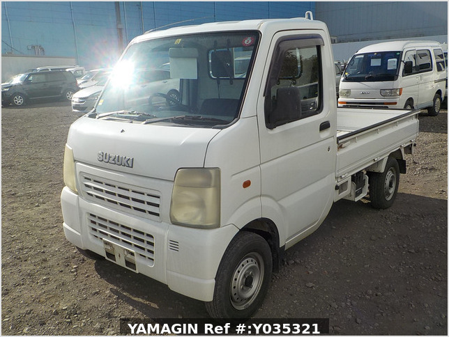 It is a picture of the white suzuki carry truck in 2002,Sub Photo 1 Stock No.Y035321