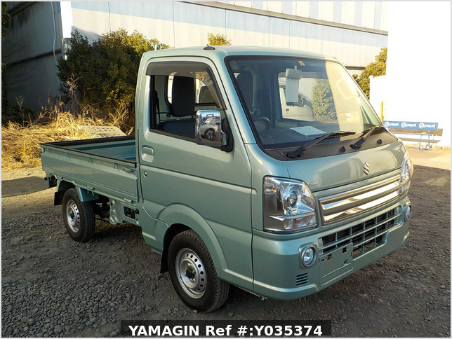 It is a picture of the green suzuki carry  truck in 2018,Sub Photo 0 Stock No.Y035374