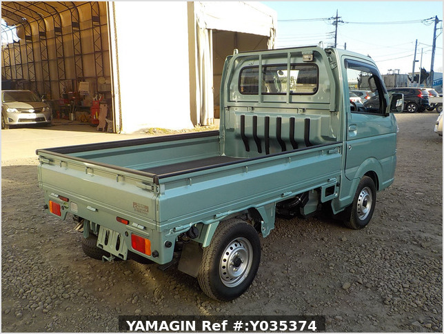 It is a picture of the green suzuki carry  truck in 2018,Sub Photo 2 Stock No.Y035374