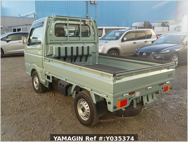 It is a picture of the green suzuki carry  truck in 2018,Sub Photo 3 Stock No.Y035374