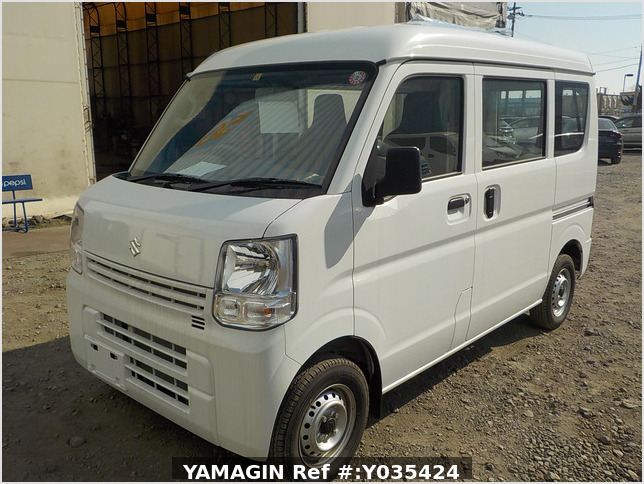 It is a picture of the white suzuki every passenger van in 2019,Sub Photo 1 Stock No.Y035424