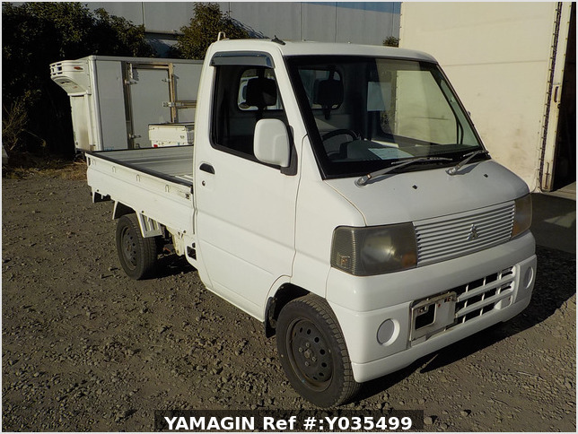 It is a picture of the white mitsubishi minicab truck in 2004,Sub Photo 0 Stock No.Y035499