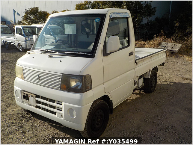 It is a picture of the white mitsubishi minicab truck in 2004,Sub Photo 1 Stock No.Y035499