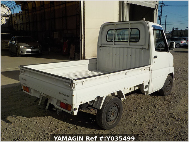 It is a picture of the white mitsubishi minicab truck in 2004,Sub Photo 2 Stock No.Y035499