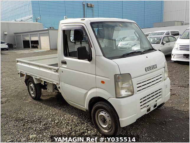It is a picture of the white suzuki carry truck in 2007,Sub Photo 0 Stock No.Y035514
