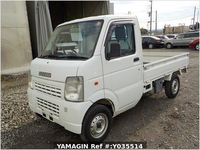 It is a picture of the white suzuki carry truck in 2007,Sub Photo 1 Stock No.Y035514
