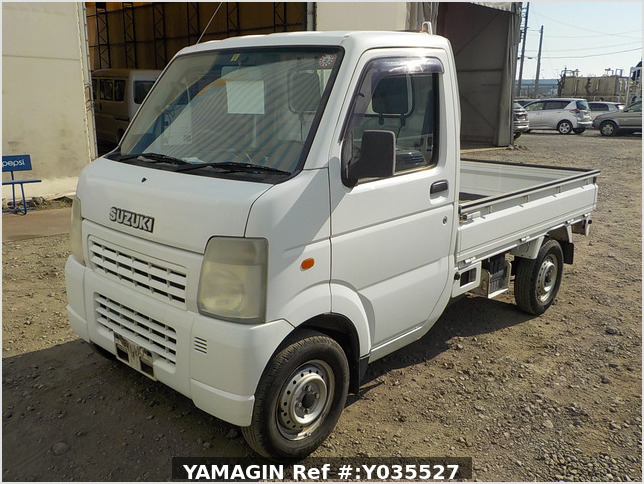 It is a picture of the white suzuki carry truck in 2003,Sub Photo 1 Stock No.Y035527
