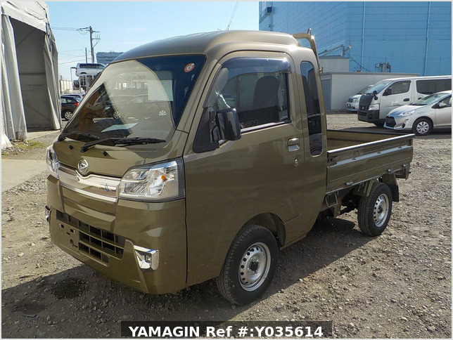 It is a picture of the khaki daihatsu hijet jumbo in 2021,Sub Photo 1 Stock No.Y035614