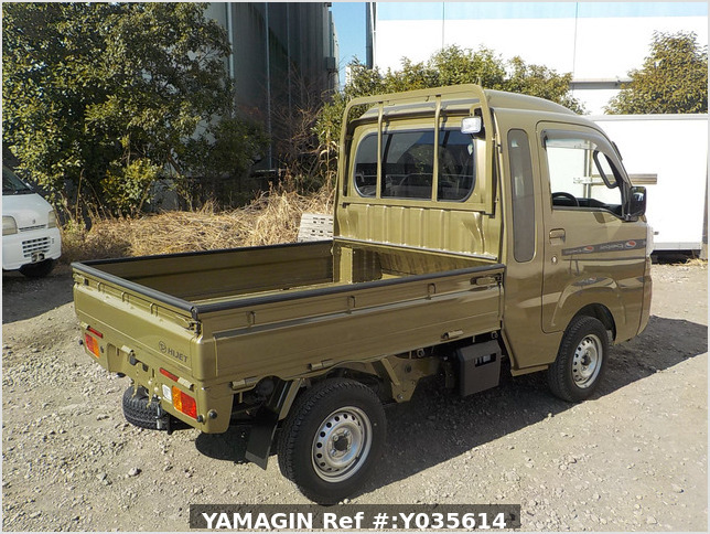 It is a picture of the khaki daihatsu hijet jumbo in 2021,Sub Photo 2 Stock No.Y035614
