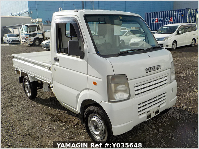 It is a picture of the white suzuki carry truck in 2007,Sub Photo 0 Stock No.Y035648