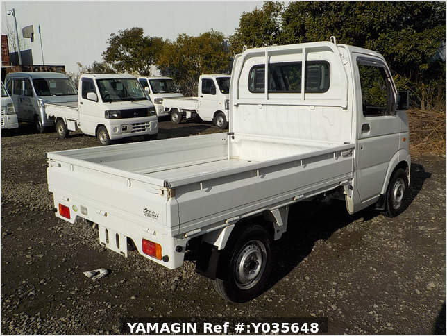 It is a picture of the white suzuki carry truck in 2007,Sub Photo 2 Stock No.Y035648