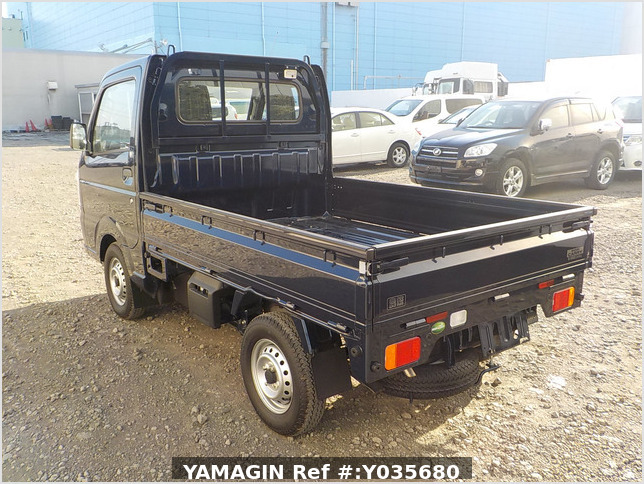 It is a picture of the dark blue suzuki carry truck in 2019,Sub Photo 3 Stock No.Y035680