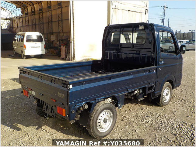 It is a picture of the dark blue suzuki carry truck in 2019,Sub Photo 2 Stock No.Y035680