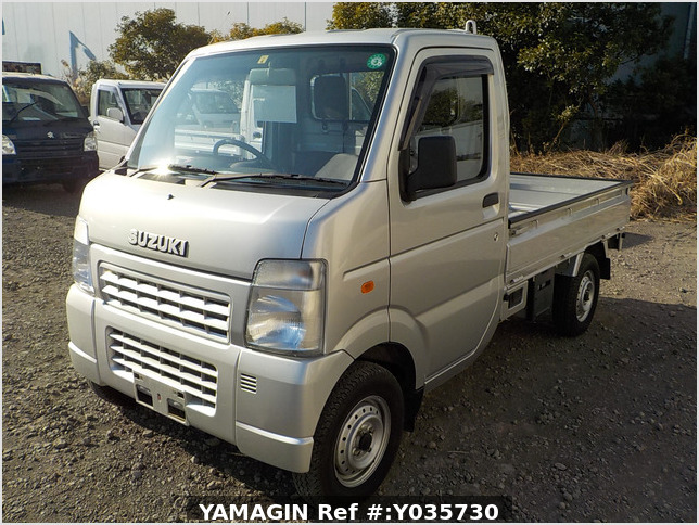 It is a picture of the silver suzuki carry truck in 2008,Sub Photo 1 Stock No.Y035730