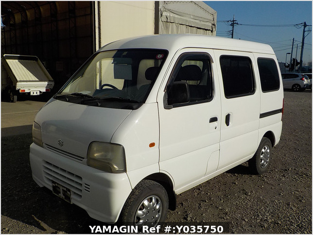 It is a picture of the white suzuki every passenger van in 2003,Sub Photo 1 Stock No.Y035750