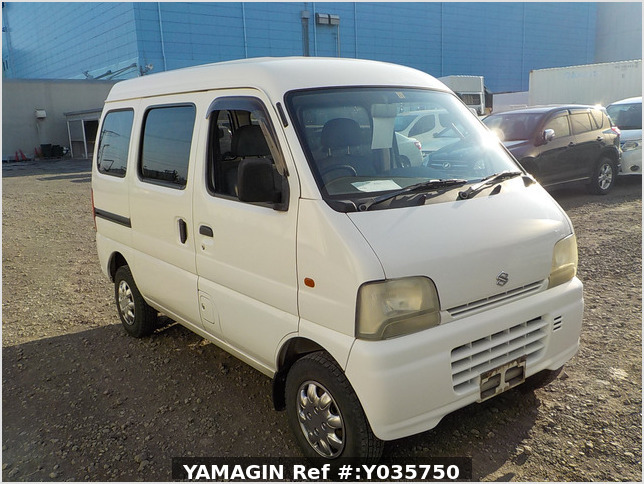 It is a picture of the white suzuki every passenger van in 2003,Sub Photo 0 Stock No.Y035750