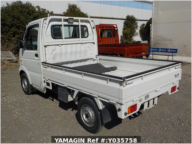 It is a picture of the white suzuki carry truck in 2007,Sub Photo 3 Stock No.Y035758