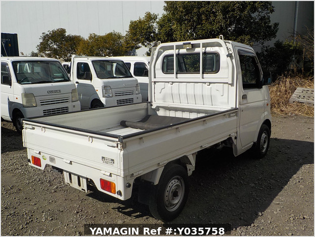 It is a picture of the white suzuki carry truck in 2007,Sub Photo 2 Stock No.Y035758