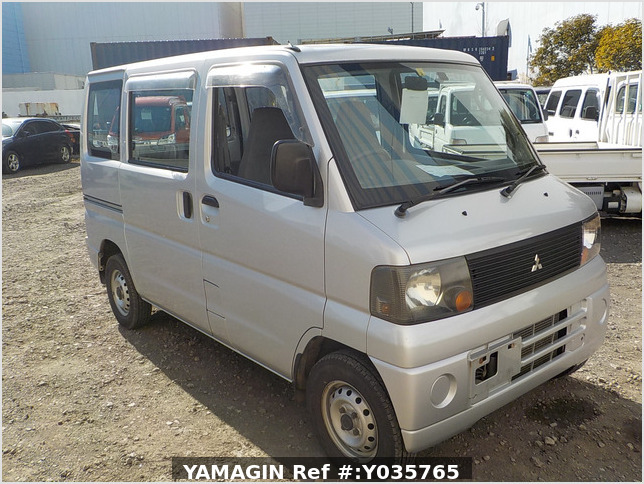 It is a picture of the silver mitsubishi minicab passenger van in 2003,Sub Photo 0 Stock No.Y035765