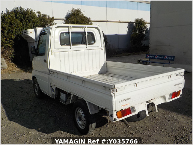 It is a picture of the white mitsubishi minicab truck in 2002,Sub Photo 3 Stock No.Y035766
