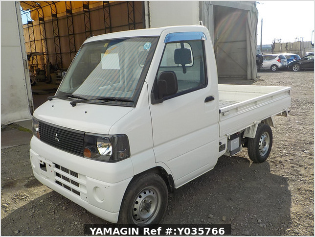 It is a picture of the white mitsubishi minicab truck in 2002,Sub Photo 1 Stock No.Y035766