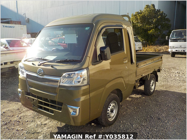 It is a picture of the khaki daihatsu hijet truck in 2020,Sub Photo 1 Stock No.Y035812
