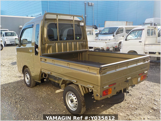 It is a picture of the khaki daihatsu hijet truck in 2020,Sub Photo 3 Stock No.Y035812