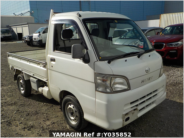 It is a picture of the white daihatsu hijet dump in 2005,Sub Photo 1 Stock No.Y035852