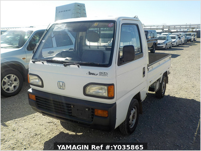 It is a picture of the white honda acty  truck in 1992,Sub Photo 1 Stock No.Y035865