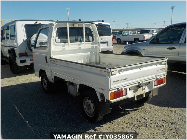 It is a picture of the white honda acty  truck in 1992,Sub Photo 2 Stock No.Y035865