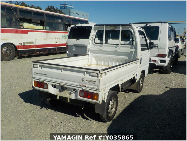 It is a picture of the white honda acty  truck in 1992,Sub Photo 3 Stock No.Y035865