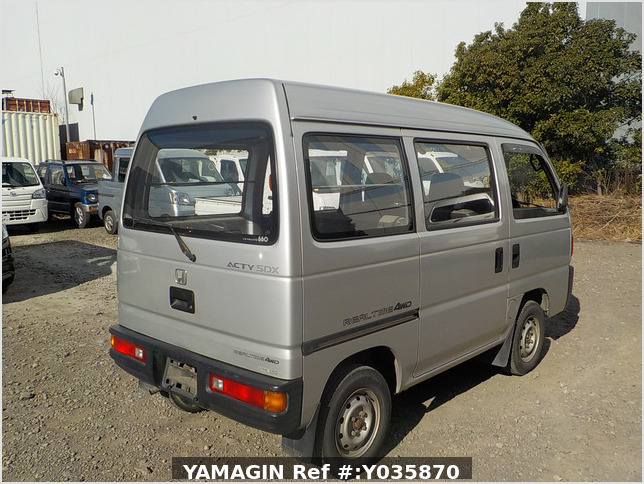 It is a picture of the silver honda acty passenger van in 1993,Sub Photo 2 Stock No.Y035870