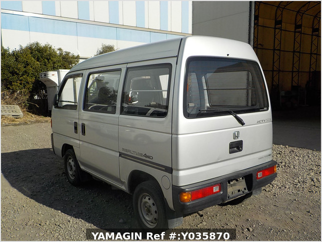 It is a picture of the silver honda acty passenger van in 1993,Sub Photo 3 Stock No.Y035870