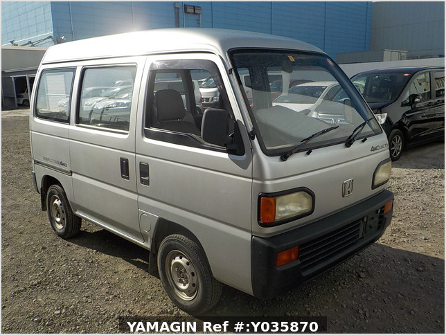 It is a picture of the silver honda acty passenger van in 1993,Sub Photo 0 Stock No.Y035870