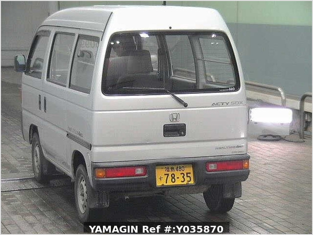 It is a picture of the silver honda acty passenger van in 1993,Sub Photo 18 Stock No.Y035870