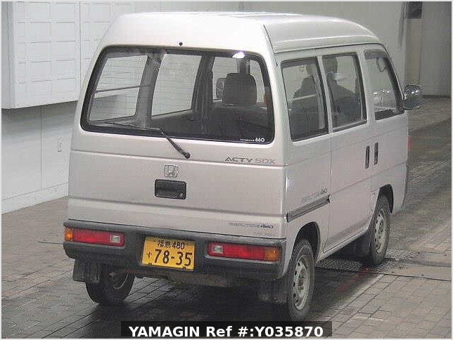 It is a picture of the silver honda acty passenger van in 1993,Sub Photo 20 Stock No.Y035870