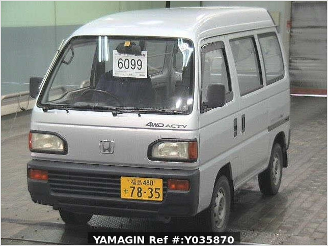 It is a picture of the silver honda acty passenger van in 1993,Sub Photo 19 Stock No.Y035870