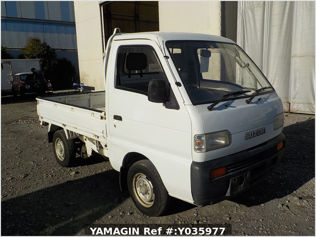 It is a picture of the white suzuki carry truck in 1995,Sub Photo 0 Stock No.Y035977