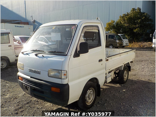 It is a picture of the white suzuki carry truck in 1995,Sub Photo 1 Stock No.Y035977