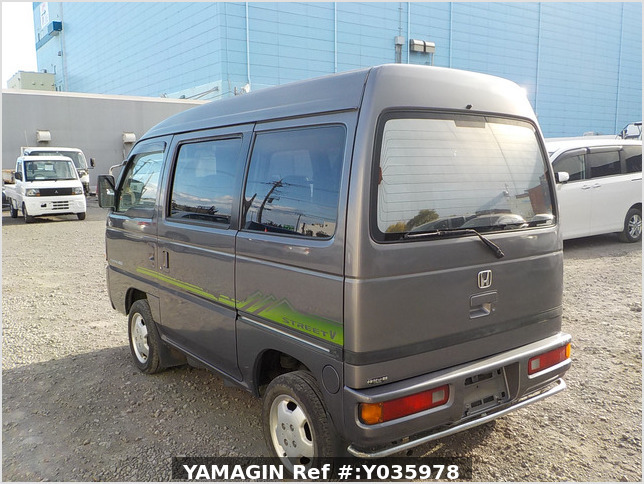 It is a picture of the grey honda acty passenger van in 1996,Sub Photo 3 Stock No.Y035978