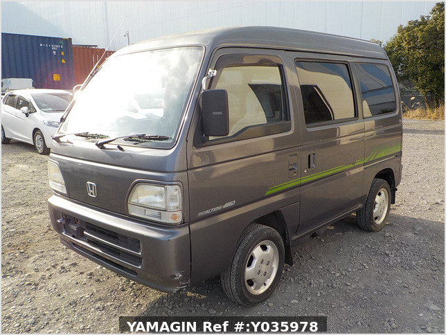 It is a picture of the grey honda acty passenger van in 1996,Sub Photo 1 Stock No.Y035978
