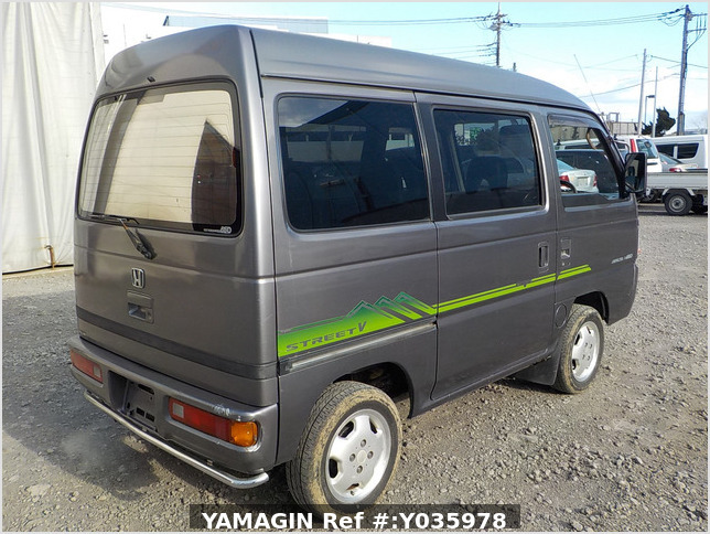 It is a picture of the grey honda acty passenger van in 1996,Sub Photo 2 Stock No.Y035978